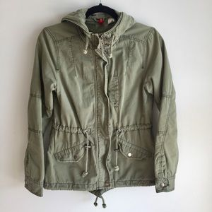 H&M Army Green Utility Trooper Jacket
